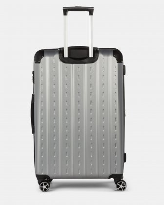 New York - Lightweight Hardside Luggage 28'' with TSA lock - Silver Bugatti