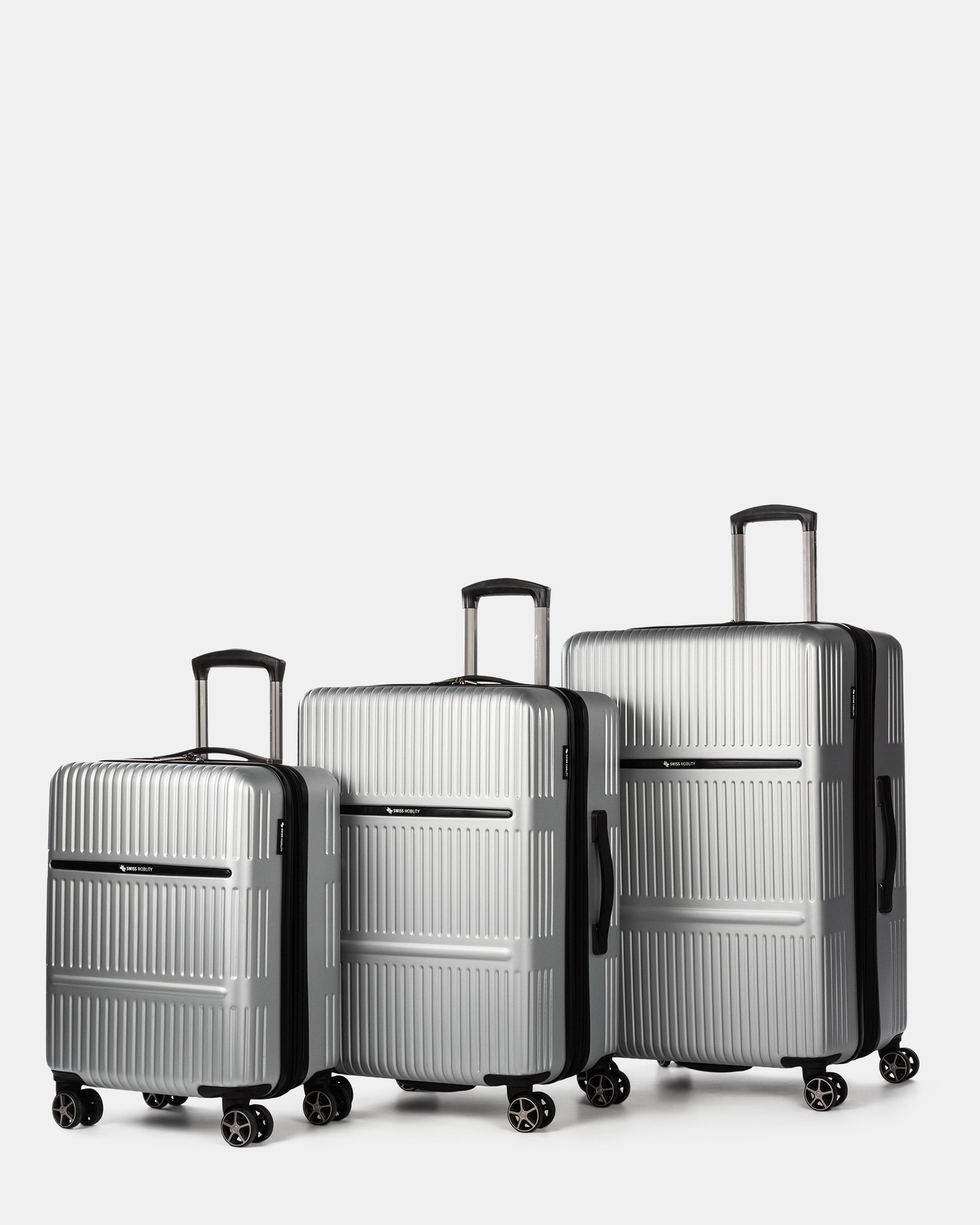 Highway – 3-Piece Hardside Luggage Set - Swiss Mobility - Zoom