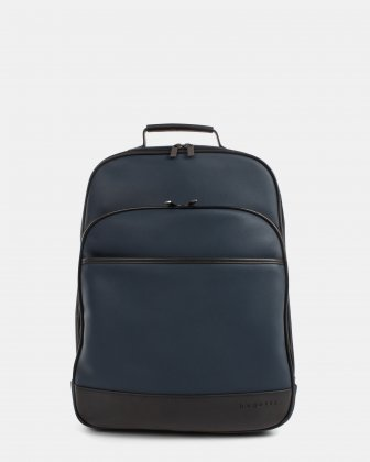 "Gin & Twill - Backpack with Padded laptop section - fits most 15.6"" - Navy Bugatti"