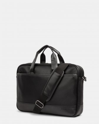 Gin & Twill - Briefcase for 15.6 in laptop with Main top zipper closure - Black Bugatti