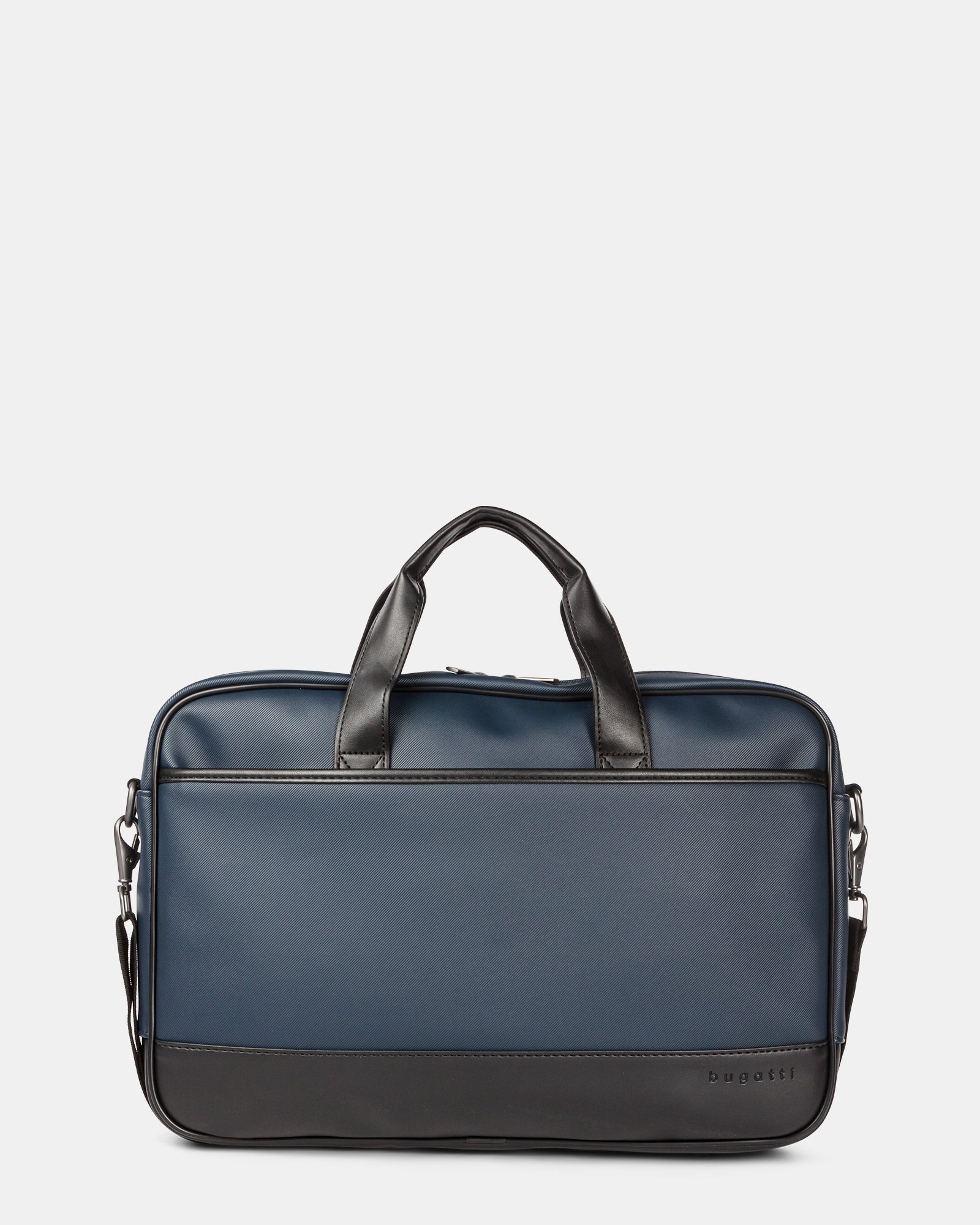 Gin & Twill - Briefcase for 15.6 in laptop with Main top zipper closure - Navy - Bugatti - Zoom