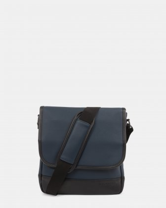 Gin & Twill - MESSENGER BAG with magnetic closure for tablet - Navy - Bugatti