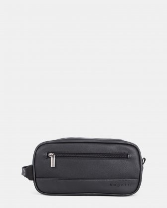 Gin & Twill - Toiletry Case with top zipper closure - Black Bugatti