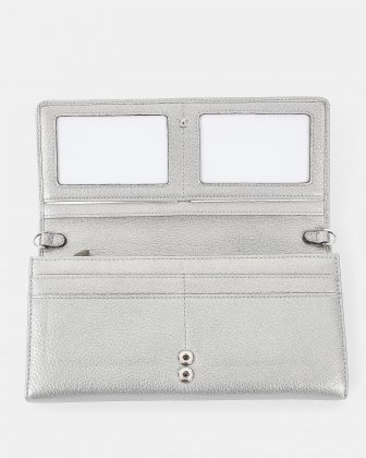 ADAGIO - Wallet with Main middle zippered compartment & cellphone pocket - Silver Céline Dion