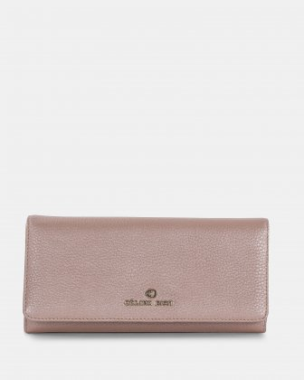 ADAGIO - Wallet on a string with back cell phone pocket - RoseGold Céline Dion