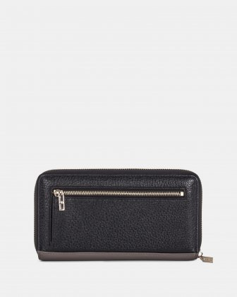 ADAGIO - LEATHER WALLET with zip around - TAUPE COMBO Céline Dion