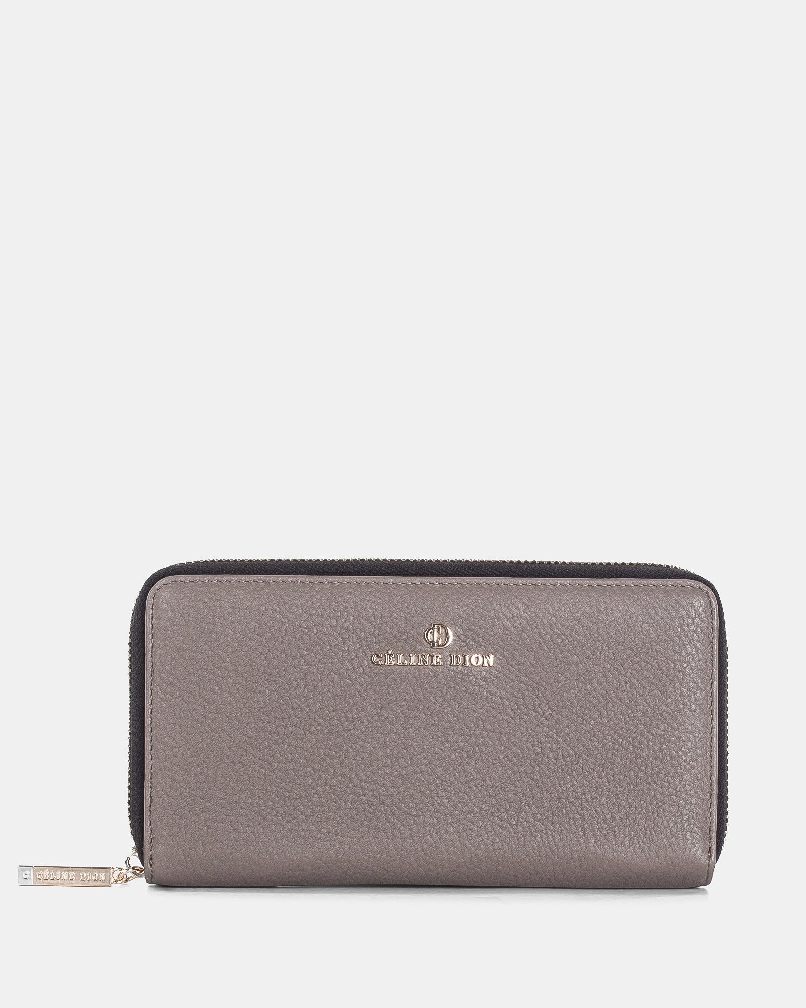 ADAGIO - LEATHER WALLET with zip around - TAUPE COMBO - Céline Dion - Zoom