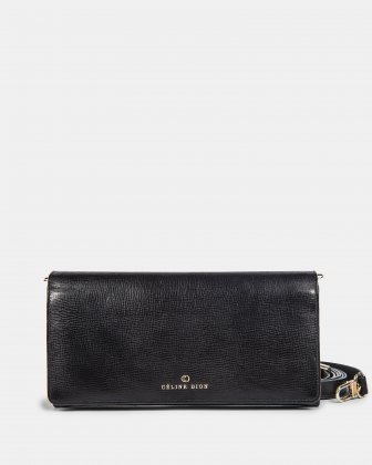 CAVATINA - 2 in 1 Wallet & Crossbody with interior back wall zipper - Black Céline Dion