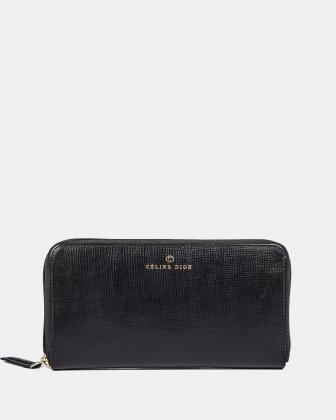 CAVATINA - Wallet zip around - Black Céline Dion