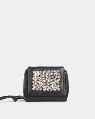 CADENCE - Wallet with zip around - Black Céline Dion