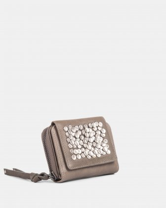 CADENCE - Wallet with zip around - Grey Céline Dion