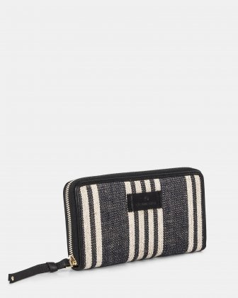 Forte - Wallet with Billfold compartments - Stripe/black Céline Dion