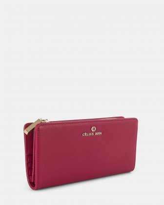 GRAZIOSO - Long wallet with zipped - Magenta - Céline Dion