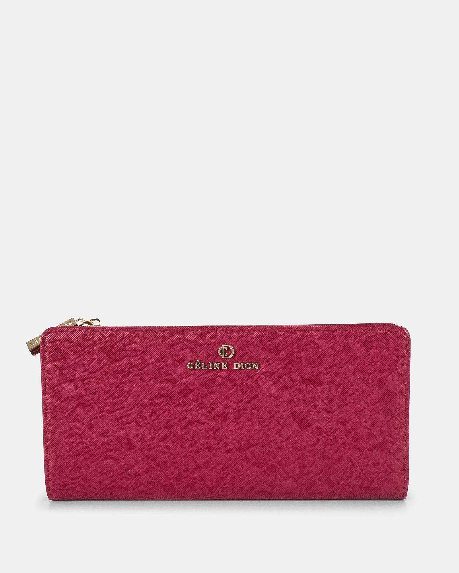 GRAZIOSO - Long wallet with zipped - Magenta - Céline Dion - Zoom