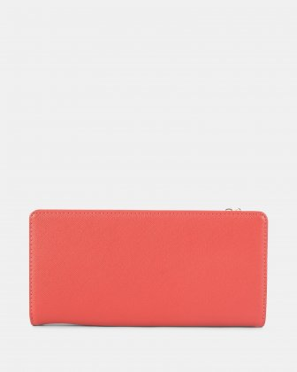 GRAZIOSO - Long wallet with zipped - Coral - Céline Dion