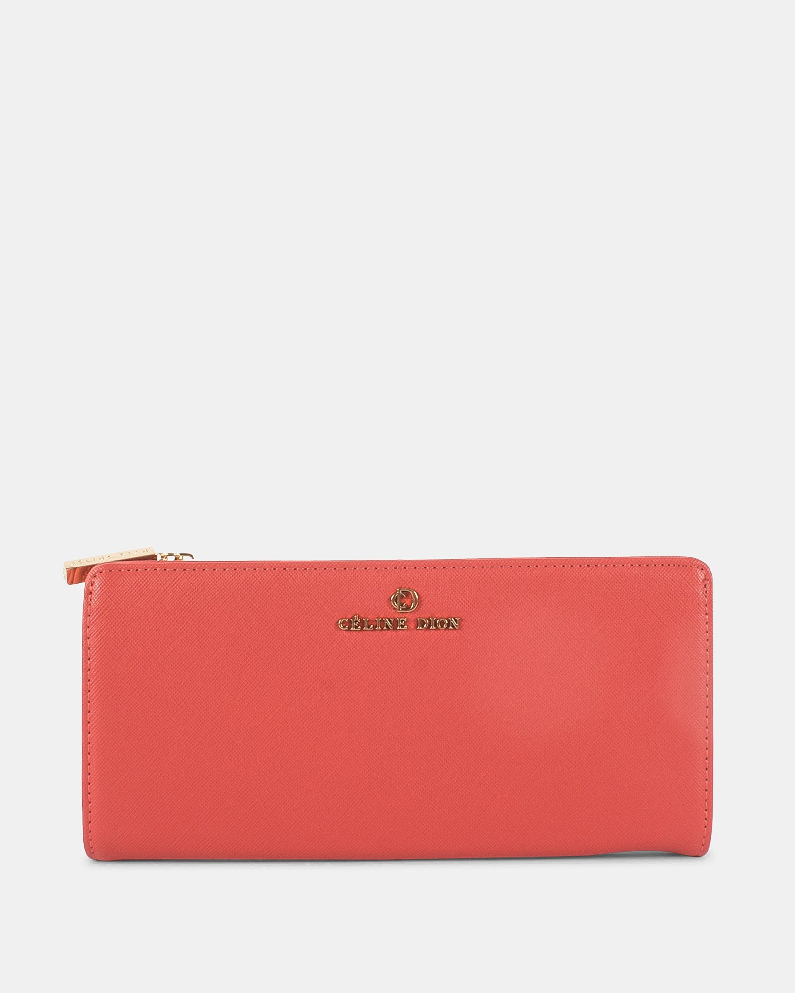 GRAZIOSO - Long wallet with zipped - Coral - Céline Dion - Zoom