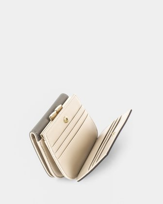 GRAZIOSO - Wallet Small rounded wallet with integrated coin clasp - Grey - Céline Dion