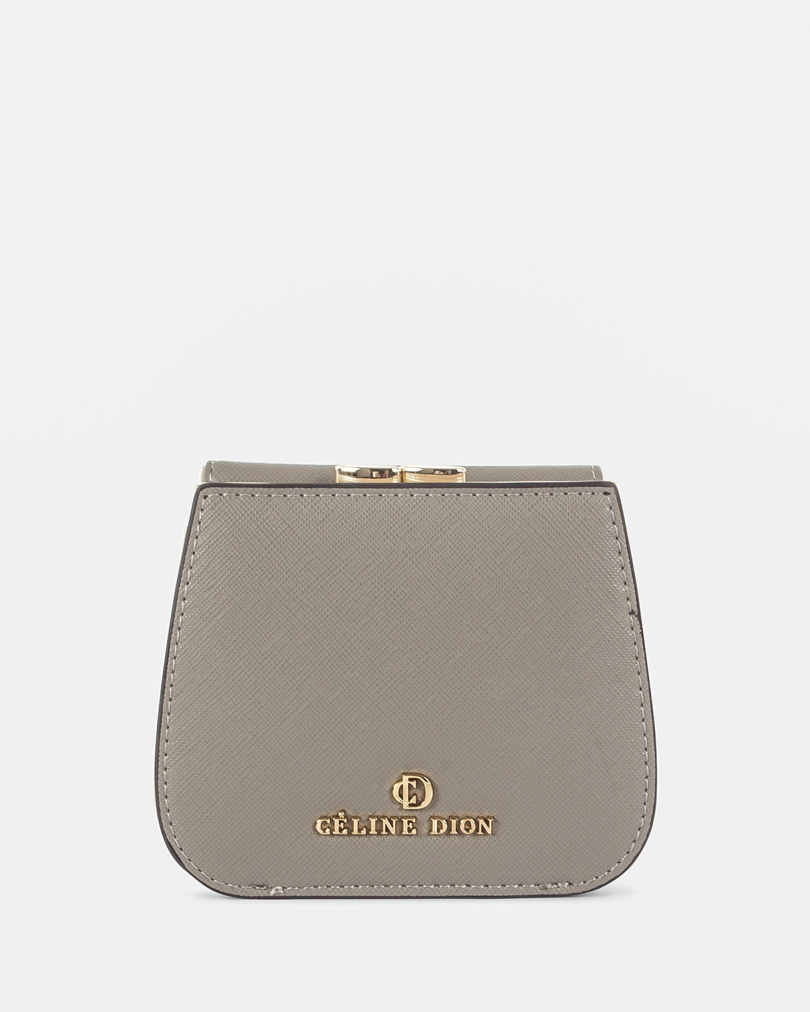 GRAZIOSO - Wallet Small rounded wallet with integrated coin clasp - Grey - Céline Dion - Zoom