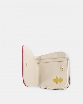 GRAZIOSO - Small rounded wallet with integrated coin clasp - Magenta - Céline Dion
