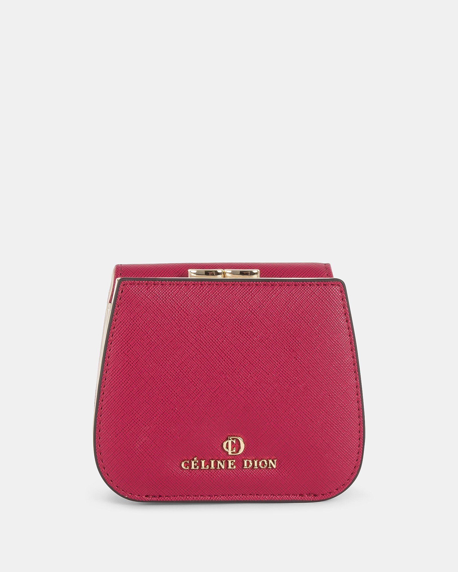 GRAZIOSO - Small rounded wallet with integrated coin clasp - Magenta - Céline Dion - Zoom