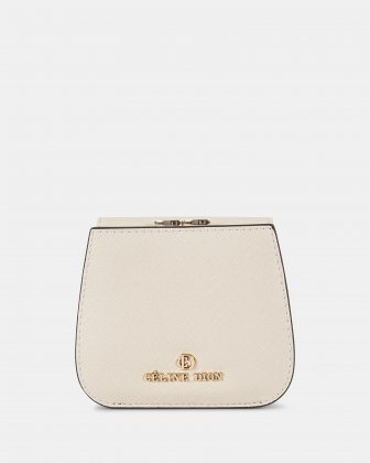 GRAZIOSO - Small rounded wallet with integrated coin clasp - sand Céline Dion
