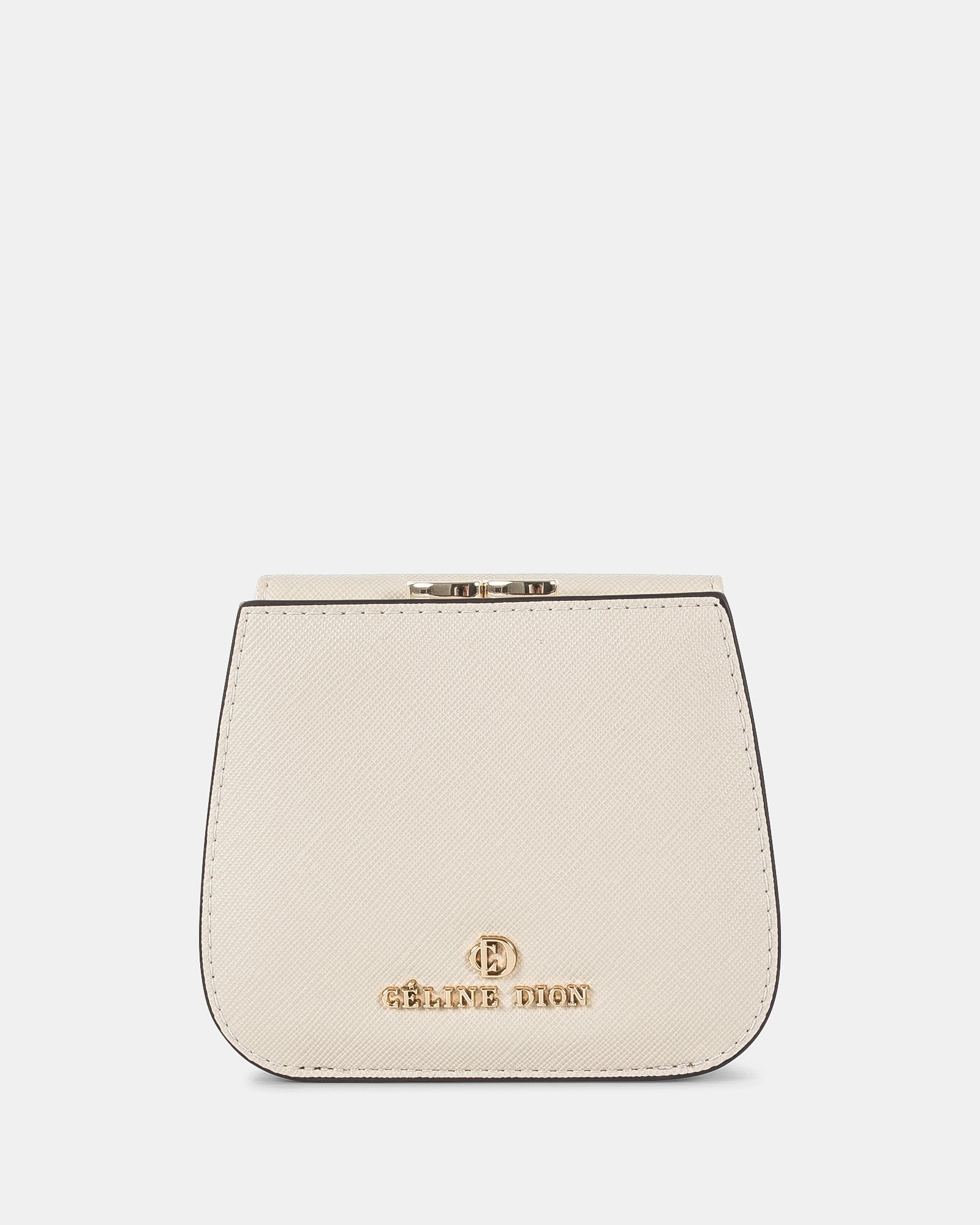 GRAZIOSO - Small rounded wallet with integrated coin clasp - sand - Céline Dion - Zoom