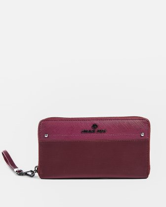 PRESTO - Wallet with zipper - Burgundy Céline Dion