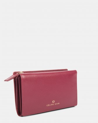 Cavantina - Flat Wallet with magnetic snap closure - Dark red Céline Dion