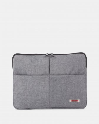 "Sterling – Sleeve for 14"" laptop with RFID protection - Grey  Swiss Mobility"