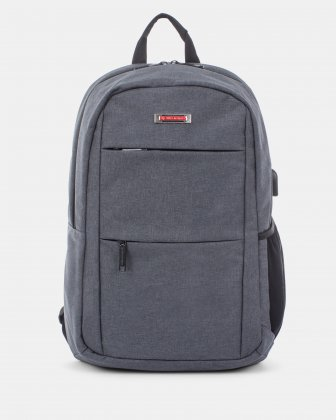 "ELEVATE - Backpack for 15.6"" laptop & Integrated USB port connection - Grey Swiss Mobility"