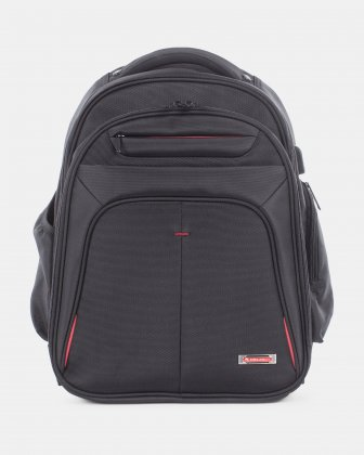 Purpose - Backpack FOR 15.6 IN LAPTOP AND Integrated USB port - BLACK Swiss Mobility