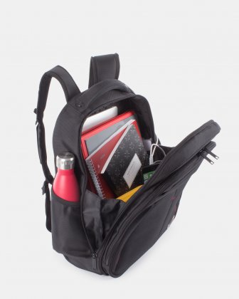 "Purpose - 15.6"" COMPUTER BACKPACK WITH USB PORT - BLACK Swiss Mobility"
