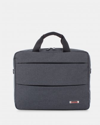 "Elevate – Soft Briefcase for 15.6"" Laptop with Adjustable and removable shoulder strap - Grey    Swiss Mobility"