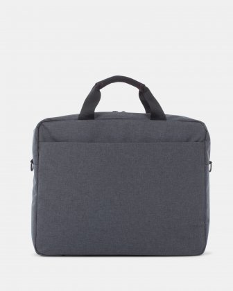 "Elevate – Soft Briefcase for 15.6"" Laptop with Adjustable and removable shoulder strap - Grey    - Swiss Mobility"