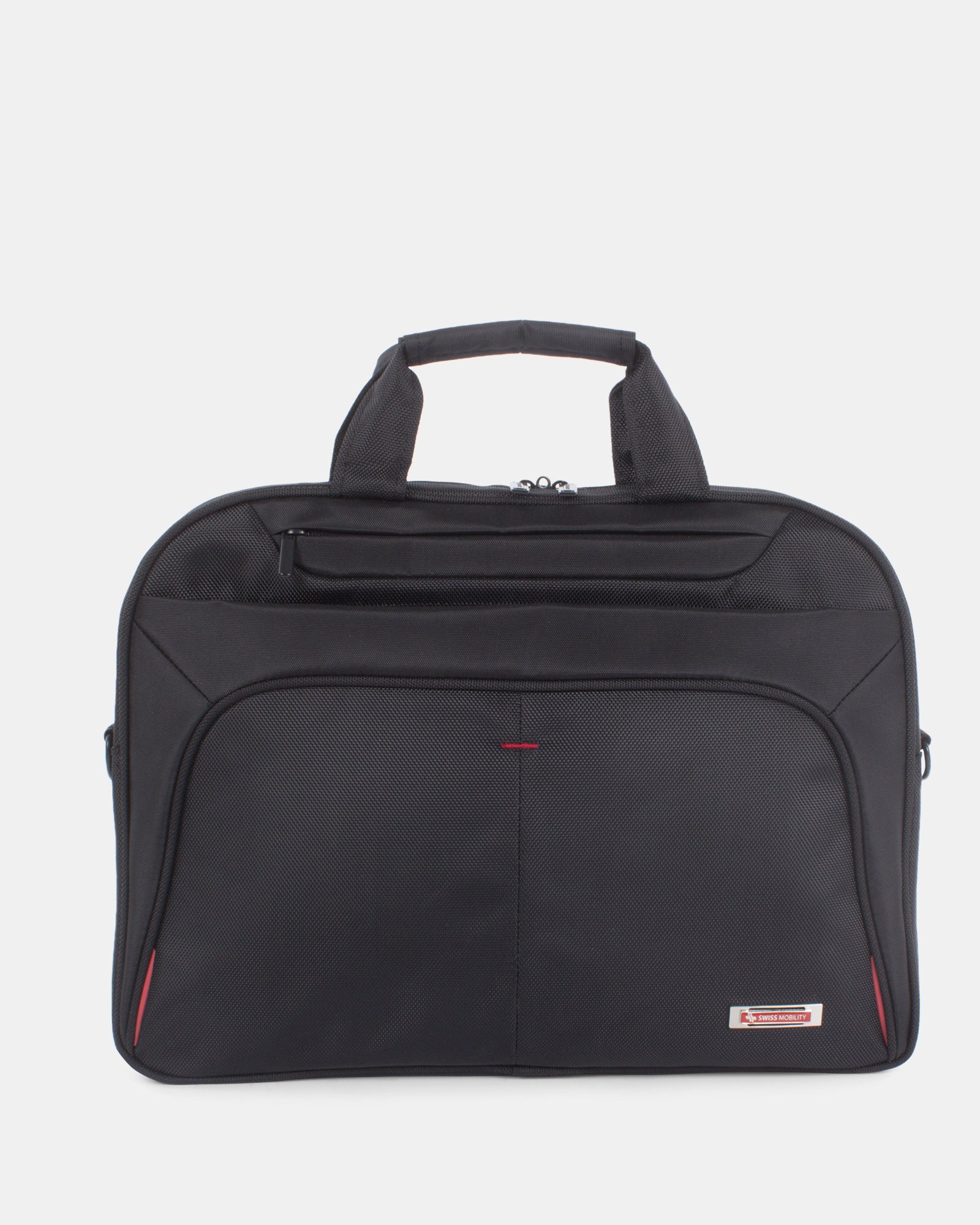 Purpose - Briefcase FOR 15.6 IN LAPTOP AND RFID PROTECTION - BLACK - Swiss Mobility - Zoom