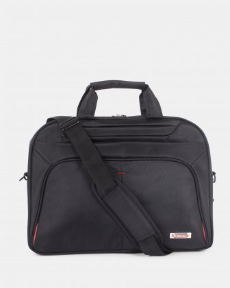 Purpose - Briefcase FOR 15.6 IN LAPTOP AND RFID PROTECTION - BLACK - Swiss Mobility
