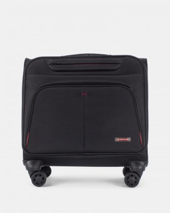 Purpose -Business Case on Wheels for 15.6 in laptop and RFID protection - Black Swiss Mobility