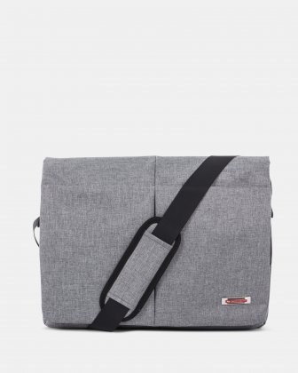 "Sterling - Messenger Bag for 15.6"" Laptop with Adjustable shoulder strap - Grey  Swiss Mobility"