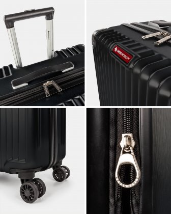 Ember - Lightweight Hardside Luggage 28'' with double spinner wheels (8 wheels) - Black Swiss Mobility