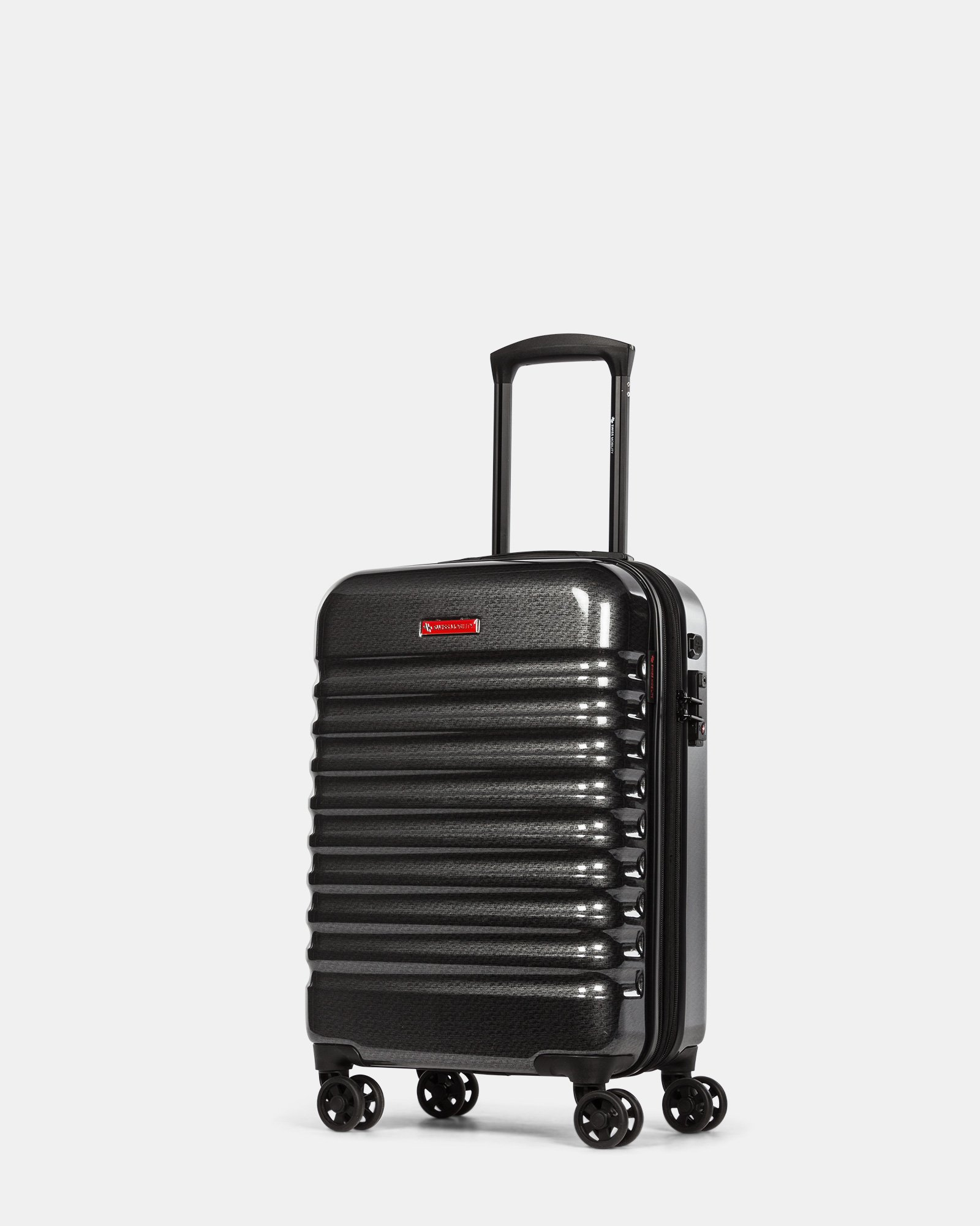 Stratus – Hardside Carry-On Luggage with TSA lock & Integrated USB port - Charcoal - Swiss Mobility - Zoom