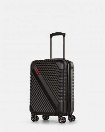 Cirrus – Lightweight Hardside Carry-On Luggage with Integrated USB port - Black Swiss Mobility