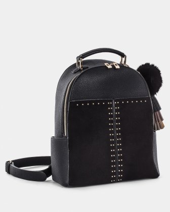 HARMONY - practical and spacious BACKPACK with multiple interior pockets - Black Céline Dion
