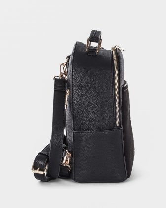 HARMONY - practical and spacious BACKPACK with multiple interior pockets - Black - Céline Dion