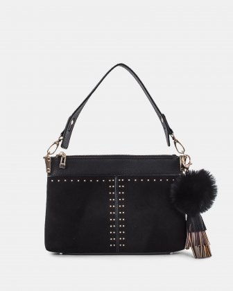 HARMONY - CLUTCH converted to a small shoulder bag - Black Céline Dion