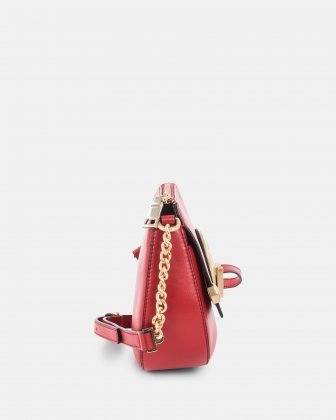 OCTAVE - Crossbody with adjustable chain and leather strap - red Céline Dion