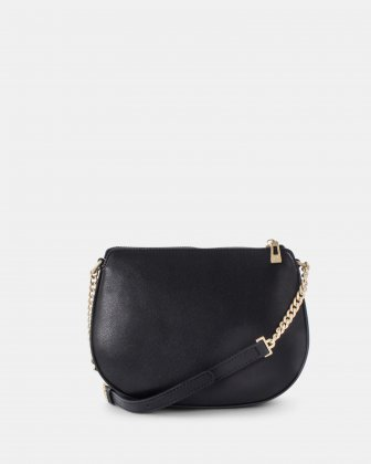 OCTAVE - Crossbody with adjustable chain and leather strap - black Céline Dion