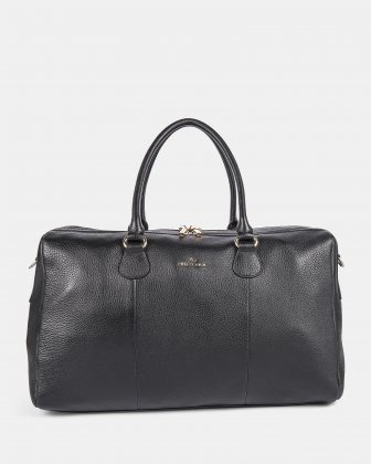 ADAGIO - LEATHER DUFFLE BAG with Adjustable & removable strap - BLACK Céline Dion