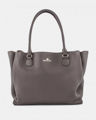 ADAGIO - LEATHER TOTE BAG - TAUPE Céline Dion
