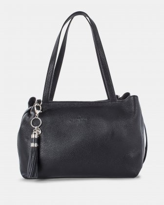 MEZZO - Tote bag with removable crossbody strap - Black Céline Dion