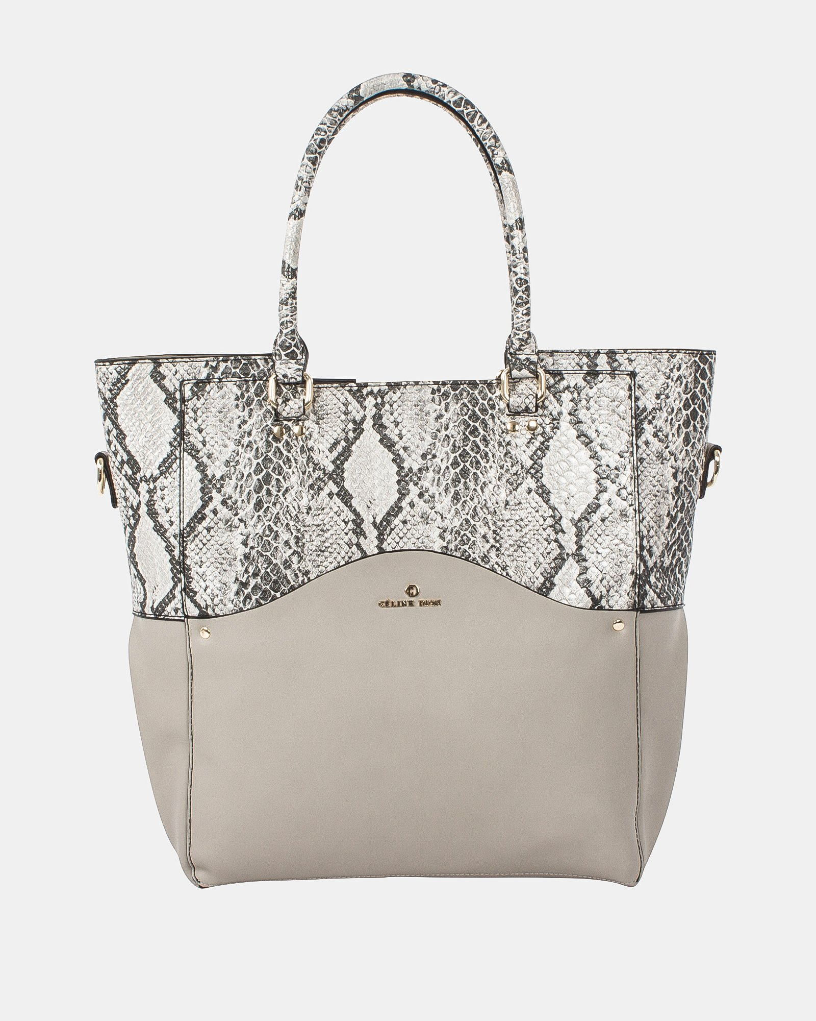 MOTIF - Tote Bag with removable and ajustable strap - LTgrey/snake - Céline Dion - Zoom
